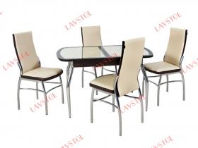 Стол с кожей раздвижной Асти