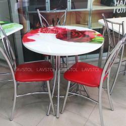 Круглый стол с фотопечатью Салют