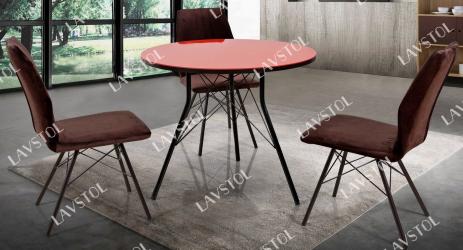 Стол круглый Сидней со столешницей из пластика