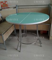Стол круглый раздвижной Комфорт со столешницей из пластика