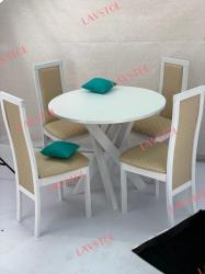 Стол круглый Прованс-2 со столешницей из пластика