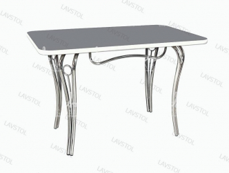 Стол раздвижной Лилия со столешницей из пластика