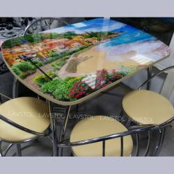 Стол раздвижной Паук с фотопечатью Море