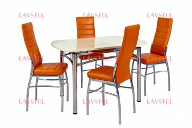 Стол раздвижной Малибу столешницей из пластика