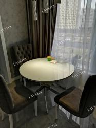 Стол круглый Прованс со столешницей из пластика