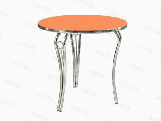 Стол круглый Лилия со столешницей из пластика