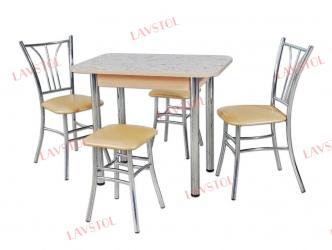 Стол раздвижной Былина 90 со столешницей из пластика