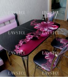 Стол с фотопечатью раздвижной Паук 120