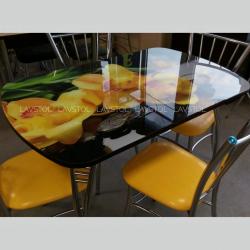Стол раздвижной Паук с фотопечатью Орхидея