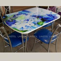 Стол раздвижной Паук с фотопечатью Цветы
